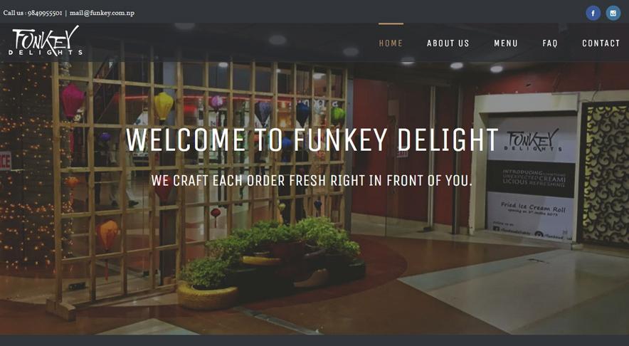 Funkey Delights – Web Development